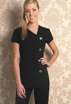 Simple and nice professional look spa uniforms spa uniform, Salon Uniform, Spa Uniform, Scrubs Uniform, Uniform Ideas, Hotel Uniform, Dental Uniforms, Work Uniforms, Beauty Uniforms, 4th Of July Outfits