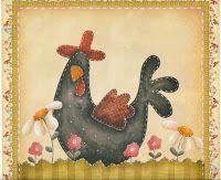 Album Archive - Estilo July Santiago e Cláudia Tanaka Chicken Crafts, Chicken Art, Arte Country, Country Crafts, Primitive Painting, Tole Painting, Pintura Tole, Chicken Quilt, Country Chicken