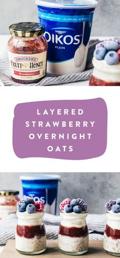 From weekend brunch to busy school mornings, these Layered Strawberry Overnight Oats are sure to do the trick. Start by making the combination of rolled oats with Oikos Plain Yogurt, chia seeds, and almond milk ahead of time. Then, simply layer with Smucker's Strawberry Fruit and Honey Spread, granola, and berries to make this delicious treat for your family. Thanks to the fresh flavors, this recipe is practically made for summer! Plus you can pick up everything you need to make it at…
