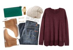 """""""Bad Hair Day: Beanies"""" by coombsie24 ❤ liked on Polyvore featuring H&M, The North Face, 7 For All Mankind, Mollini, Jules Smith, Gucci and Shinola"""