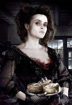 Helena Bonham Carter - Sweeney Todd  Halloween inspiration. bahaaahaaa...