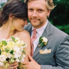 Loving the pocket square and those flowers.