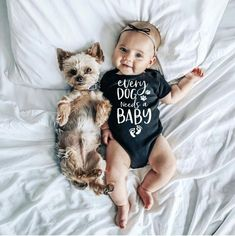 Infant Newborn Baby Girls Boys Short Sleeve Every Dog Needs A Baby Letter Print Romper Jumpsuit Outfit Clothes Summer Price: Baby Co, Baby Girl Newborn, Baby Girls, Onesies, Baby Letters, Handmade Baby Clothes, Body Suit Outfits, Body Suits, Baby Prints