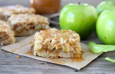 Caramel Apples made into rich, delicious bars. Jimmy's Caramel Dip make these bars a true treat! Apples, mixed with caramel batter and baked to a golden brown and then topped with more caramel and frosting. This is a wonderful Fall caramel apple recipe! Apple Desserts, Apple Recipes, Fall Recipes, Sweet Recipes, Delicious Desserts, Dessert Recipes, Yummy Food, Tasty, Amish Recipes