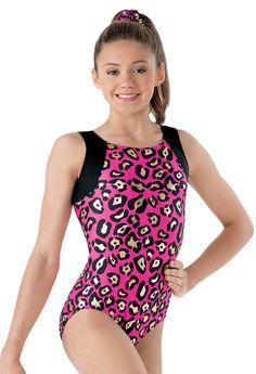 Leopard Print Tank Gymnastic Leotard; Balera