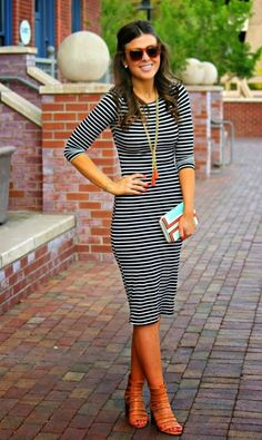 Stylist: love the simplicity of this dress, and yet it is so cute and fun. I love that it is knee-length and therefore modest.