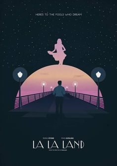 La La Land (Damien Chazelle) Hated the movie, love the poster. Beau Film, Minimal Movie Posters, Cinema Posters, Book Posters, Cinema Film, Film Musical, Beste Comics, Poster Minimalista, Damien Chazelle