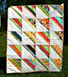 scrappy quilt via rosylemons