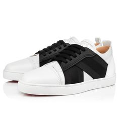 Elastikid Louboutin Online, Flats Boat, Red Sole, White Flats, Classic Leather, Leather Interior, Casual Shoes, Men's Shoes, Christian Louboutin