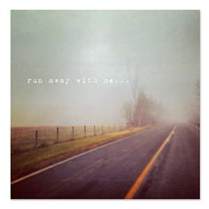 Landscape Photography Run Away With Me 8x8 Print Foggy by ellemoss, $30.00