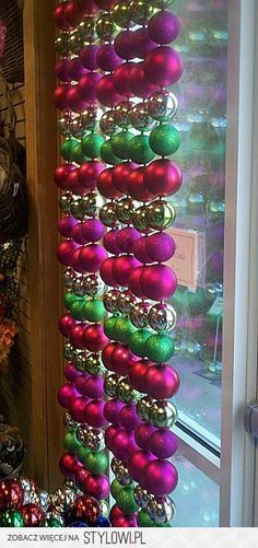 DIY:: Christmas window treatment | Crafts na Stylowi.pl