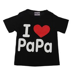I Love Papa Mama Baby Children' Clothing T-shirts for girls boys Kids children Clothes for Summer Style tshirts brand T shirts♦️ B E S T Online Marketplace - SaleVenue ♦️ http://www.salevenue.co.uk/products/i-love-papa-mama-baby-children-clothing-t-shirts-for-girls-boys-kids-children-clothes-for-summer-style-tshirts-brand-t-shirts/ US $2.29