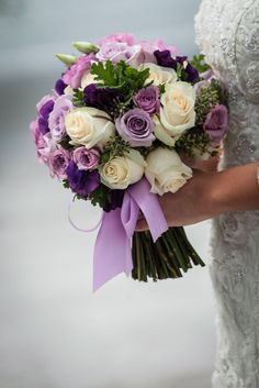 Prettiest Little Wedding Bouquets to Have and to Hold Photo: Aaron Almendral; 24 Prettiest Little Wedding Bouquets to Have and to Hold - Aaron AlmendralPhoto: Aaron Almendral; 24 Prettiest Little Wedding Bouquets to Have and to Hold - Aaron Almendral Blue Purple Wedding, Purple Wedding Bouquets, Bride Bouquets, Bridal Flowers, Purple Style, Flower Bouquets, Bouquet Wedding, Plum Wedding Flowers, Greenery Bouquets