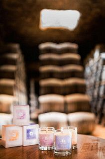 Velas de aromaterapia con vinos de Verum