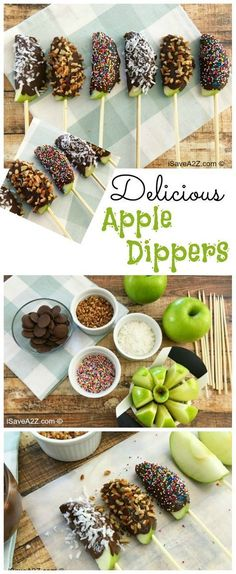 Apple Dipper Sticks Delicious Apple Dipper Sticks - this one is definitely popular with my kids!Delicious Apple Dipper Sticks - this one is definitely popular with my kids! Delicious Desserts, Yummy Food, Oreo Desserts, Cookies Et Biscuits, Fall Recipes, Dinner Recipes, Easter Recipes, Green Apple Recipes, Dessert Recipes Halloween