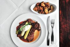 Steak a la Seahorse - Helsinki. Our favorite restaurant in town.