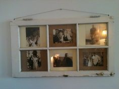 Family Photo Displayed in Old Window Frame