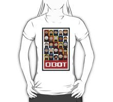 Politico'bots T-Shirt   #political #gift #gifts #toy #toys #robot #robots #obot #obots #politicobots #politicobot #onjenayo #bernie #sanders #clinton #hillary #rubio #huckabee #cruz #carson #deblasio #trump #santorum #republican #democrat #party #junkie #junkies #conservative #president #presidential #election #electoral #cute #chibi #kawaii #equalopportunity #spreadlove #meannesskill #teaparty #candidates #2016 #16