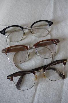 Vintage Eye Glasses Set of 3 1960s Geek Glasses by mrspsbrain, $17.00