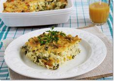 zöldséges tészta csőben sütve Lasagna, Quiche, Cauliflower, Vegetables, Breakfast, Ethnic Recipes, Food, Lasagne, Breakfast Cafe