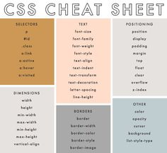 CSS Cheat Sheet via The Blog Market