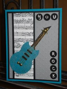 You Rock! by – Cards and Paper Crafts at Splitcoaststampers You Rock! by – Cards and Paper Crafts at Splitcoaststampers,Instrumente You Rock! by – Cards and Paper Crafts at Splitcoaststampers Birthday Cards For Boys, Masculine Birthday Cards, Handmade Birthday Cards, Masculine Cards, Fathers Day Cards Handmade, Male Birthday, Boy Cards, Kids Cards, Musical Cards