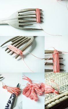 Nos vamos a la playa con nuestro capazo Diy Projects To Try, Diy Crafts For Kids, Craft Projects, Arts And Crafts, Diy Tassel, Tassels, Diy Ribbon, Handmade Beads, Yarn Crafts