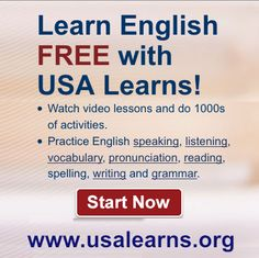 Learn English free with USA Learns!