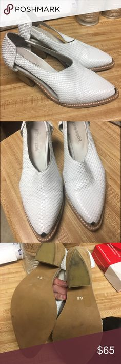 White Jeffrey Campbell shoes White Jeffrey Campbell shoes size 6.5. Worn about once Jeffrey Campbell Shoes Ankle Boots & Booties