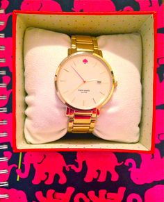 northern-proper:  texas-belle03:  Birthday Kate Spade NY watch   so cute!
