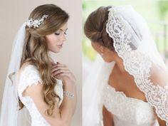 penteado para noiva com mantilha - Pesquisa Google