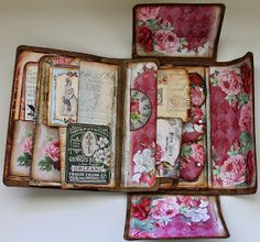 ShelbyDoodle Designs: Creative Team Project for Ephemera's Vintage Garden and Tim Holtz Folio Folder