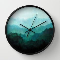 Mists No. 2 Wall Clock by Prelude Posters - $30.00