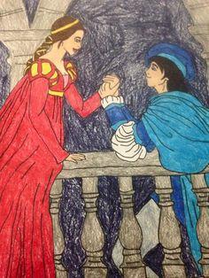 Romeo and Juliet Romantic Love Stories, Romantic Couples, Romeo And Juliet, Love Story, Disney Characters, Fictional Characters, Aurora Sleeping Beauty, Scene, Disney Princess