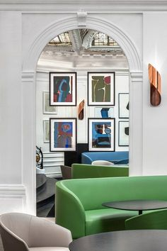 THE SPIRIT OF PLACE . Renovated by French interior designer François Champsaur, the Hôtel Vernet, Paris