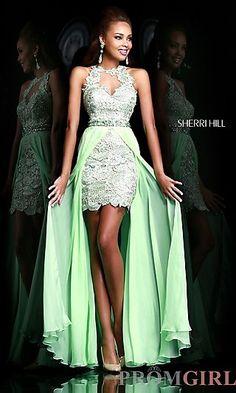 Sherri Hill High Low Prom Dress at PromGirl.com http://www.promgirl.com/shop/dresses/viewitem-PD1202513