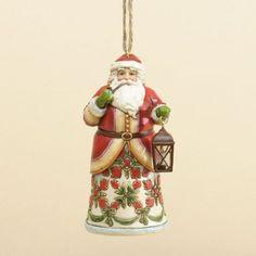Jim Shore for Enesco Williamsburg Santa Ornament
