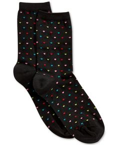 Hot Sox Women's Tiny Hearts Trouser Socks