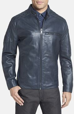 Marc New York by Andrew Marc 'Garth' Quilted Leather Moto Jacket available at #Nordstrom