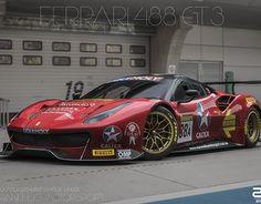 Ferrari 488 - Maranello Motorsport - 2017 Liqui Mol on Behance Ferrari Racing, New Ferrari, Ferrari F40, Gt Cars, Race Cars, Top Luxury Cars, Bmw M6, Exotic Sports Cars, Futuristic Cars