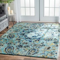 nuLOOM Modern Vintage Paisley Aqua Rug x (Aqua), Black, Size x (Plastic, Abstract) Aqua Rug, House Of Turquoise, Easy Home Decor, Online Home Decor Stores, Online Shopping, My Living Room, Rugs On Carpet, Wallpaper, Paisley
