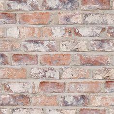 Papier peint NEW BRIQUE Vinyle sur Intissé imitation briques | Saint Maclou
