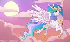 Princess of the Sun (+Speedpaint) by hikariviny Princesa Celestia, Celestia And Luna, My Little Pony 1, My Little Pony Friendship, Little Poni, Go Wallpaper, Mlp Fan Art, My Little Pony Merchandise, Princess Luna