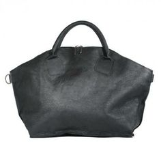"""""""Mommy dearest"""" is a special x-large handbag - here it comes in """"black antique"""" with raw leather surface"""