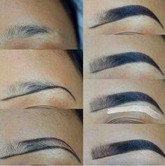 53 Ideas For Makeup Tutorial Brows Make Up – – Eyebrows World Eyebrow Makeup Tips, Makeup 101, Contour Makeup, Skin Makeup, Makeup Inspo, Eyeshadow Makeup, Beauty Makeup, Makeup Looks, Makeup Eyebrows