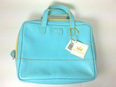 Baekgaard Handheld Cosmetic Tote Bag Purse Caribbean Blue Lemon NWT #Baekgaard #SatchelHandheldCosmetic