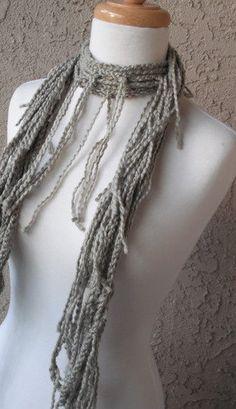 Love this! Crochet Fringe Scarf