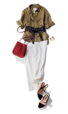 Sahara chic with an obi BELT ! What To Wear Tomorrow, Mode Simple, Beige Outfit, Safari, Couple Outfits, Office Fashion, Classy Outfits, Spring Outfits, Fashion Dresses