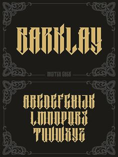 Barklay. Fonts. $17.00 Graffiti Lettering Fonts, Chicano Lettering, Tattoo Lettering Fonts, Graffiti Alphabet, Lettering Styles, Typography Fonts, Graphic Design Typography, Lettering Ideas, Calligraphy Letters Alphabet