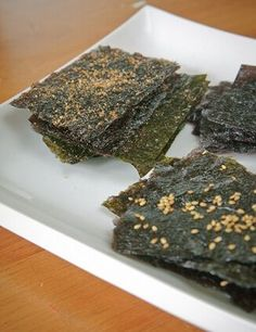 Making your own nori chips is easy and much cheaper than buying the prepackaged versions. Type of dish: Snack Equipment: Baking sheet Servings: Makes 1 serving Ingredients: 3 nori sheets, untoasted…